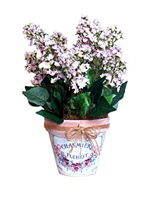 Lilacs In Clay Pot (Lavender/Green)
