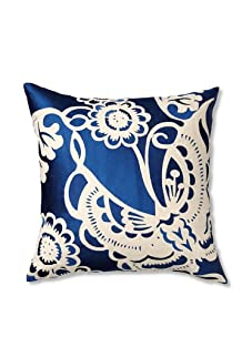 Trina Turk Embroidered Butterfly Pillow (Blue)