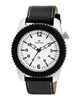 Maxima Analog White Dial Men's Watch - 26492LPGN