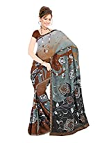 Fashion Trendz Faux Georgette Saree (FT359_Brown)
