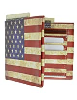 Classic USA Flag Print Wallet Men's Billfold Wallet By Marshal