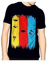 Cotton Znmd T-Shirt-Black-M