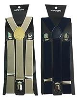 Atyourdoor Y- Back Suspenders for Men(Brownnavybluesus2)