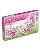 Geomag 142-Piece Construction Set with Assorted Pink Panels - Mentally Stimulating for Children and Adults - Safe and High Quality Construction - For Ages 3 and Up