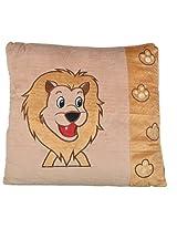Twisha Lion Side Print Pillow 13 X 13 X 3 Inch
