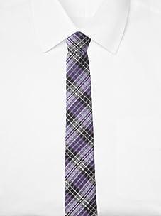 Original Penguin Men's Morton Plaid Tie, One Size (Purple)