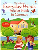 Everyday Words Sticker Book in German (Usborne Everyday Words Sticker Books)
