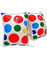 Play Day Aegs 3 6 Inflatable Water Wings White Polka Dots