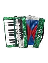 DLuca G104-GR Kids Piano Accordion 17 Keys 8 Bass, Green