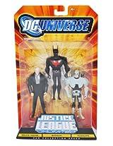 DC Universe Justice League Unlimited Fan Collection Action Figure 3Pack Bruce Wayne, Batman & Warhawk - C2i_Inv_697