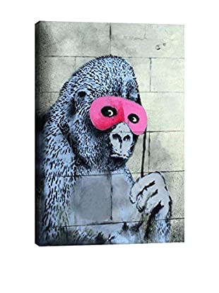 Banksy Gorilla Mask Pink Ape Monkey Giclée On Canvas