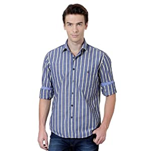 Casual Striped Full Sleeved Shirt