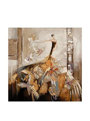 Arte Dal Mondo Leinwandbild Edgar Ramirez Donna Con Farfalle