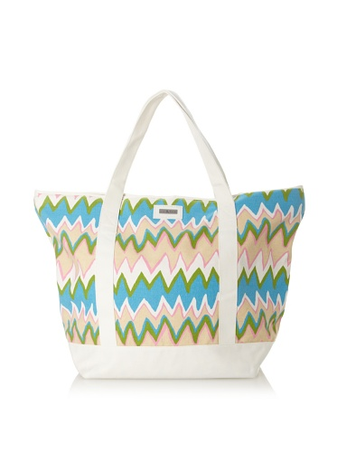 Julie Brown Medium Tote Bag with Cooler Lining (Pink Charlie/Polka Dot)