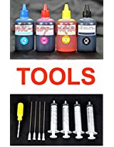Premium Quality Refill Ink Bottles Kit with Tools for HP & Canon Inkjet printers
