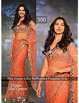 Deepika Padukone's Bollywood Replica Orange Sarees