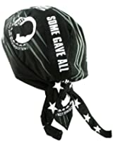 Deluxe POW/MIA Headwrap (Black, One Size)