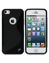 Excel S-Line Back Case For iPhone 5C - Black