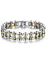 Magic Stones 18ct Gold Plated Rhodium Coated Bracelet For Men - BR005