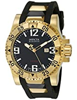 Invicta Men's 6255 Reserve Collection 18k Gold-Plated and Black Rubber Watch