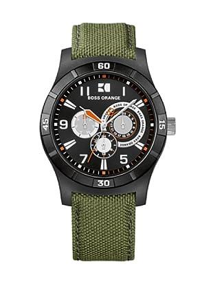 Hugo Boss 1512539 - Reloj de caballero de cuarzo, correa de varios materiales color verde