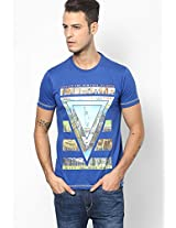 Blue Round Neck T-Shirt (Smart Fit)