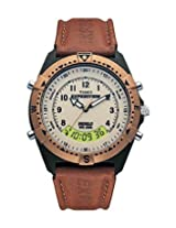 Timex Brown Leather Analog Unisex Watch MF13