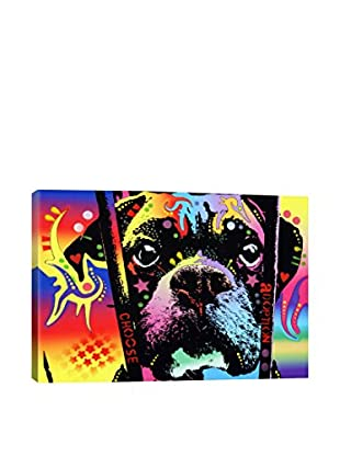 Dean Russo Choose Adoption Boxer Gallery Wrapped Canvas Print