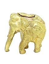 Frabjous Unique Brass Elephant Statue Figurine Sculpture with Fine Carving Work