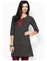 Jaipur Kurti Women Cotton Kurta (Jk1474_Xl _Black _X-Large)