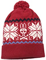 Psycho Bunny Men's Highland Snowflake Bunny Knitted Hat