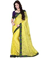Brasso Lamon & Colour Saree for Party Wear