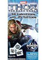 Paper Magic Thor 2 Deluxe Valentine Exchange Cards with Bonus Tattoo (34 Count)