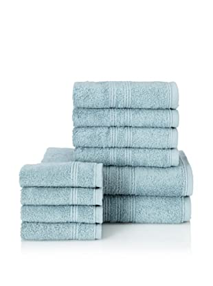 Chortex 10-Piece Imperial Bath Towel Set, Soft Aqua