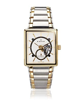 Edox Men's Les Bemonts Two-Tone Silver and Gold\/White Stainless Steel Watch