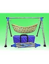 Kaushalendra Garden Zula Baby Cradle Hammock Swing Chair Seat (Steel Steel)