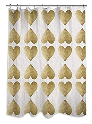 Oliver Gal Love Game Shower Curtain, Multi