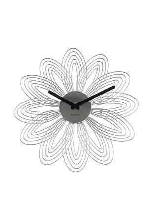 Karlsson Petals Wall Clock, Chrome