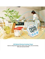 LCD Digital Kitchen Cooking Timer Loud Alarm Count Down Clock (Color: Blue)