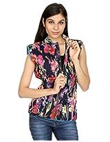 Rajrang Womens Cotton Jacket -Blue, Pink -Small