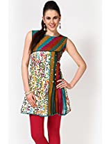 Sleeve Less Pleated Multi Kurti