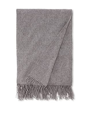 Sofia Cashmere Fringed Woven Throw, Heather Grey, 56