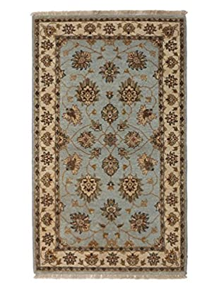 Darya Rugs Oushak Oriental Rug, Light Blue, 3' 2