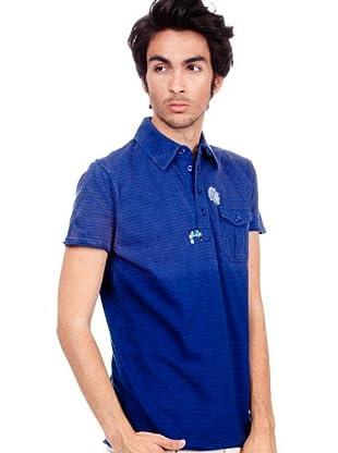 Custo Poloshirt (Blau/Grau)