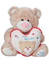Archies Soft Toy Bear With Heart, Pink/Blue (37cm)