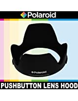 Polaroid Studio Series Lens Hood With Exclusive Pushbutton Mounting System - no more 'screwing around With Old Fashioned Threaded Hoods For The Olympus OM-D E-M5 E-M1 E-M10 E-P5 PEN-E-PL3 PEN-E-PL5 E-PM1 E-PM2 PEN E-P3 PEN E-P2 PEN E-PL1 E-PL2 GX1 Digital SLR Cameras Which Have Any Of These ( 40-150mm 14-150mm 75-300mm) Micro Olympus Lenses