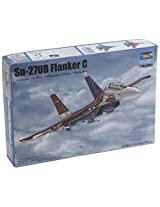 Trumpeter SU27UB Flanker C Russian Fighter Model Kit (1/144 Scale)