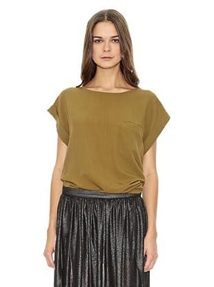 Mango Camiseta Bambula (Verde Oliva)