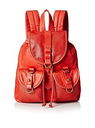 Joelle Hawkens Women's Small Rachel Perforated Backpack, Pepper