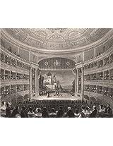 "Drury Lane Theatre; Wrestling Scene In ""As You Like It"". London Interiors, 1841"
